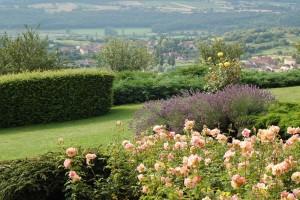 Le jardin fleuri en été - La Montagne de Brancion entre Tournus et Cluny