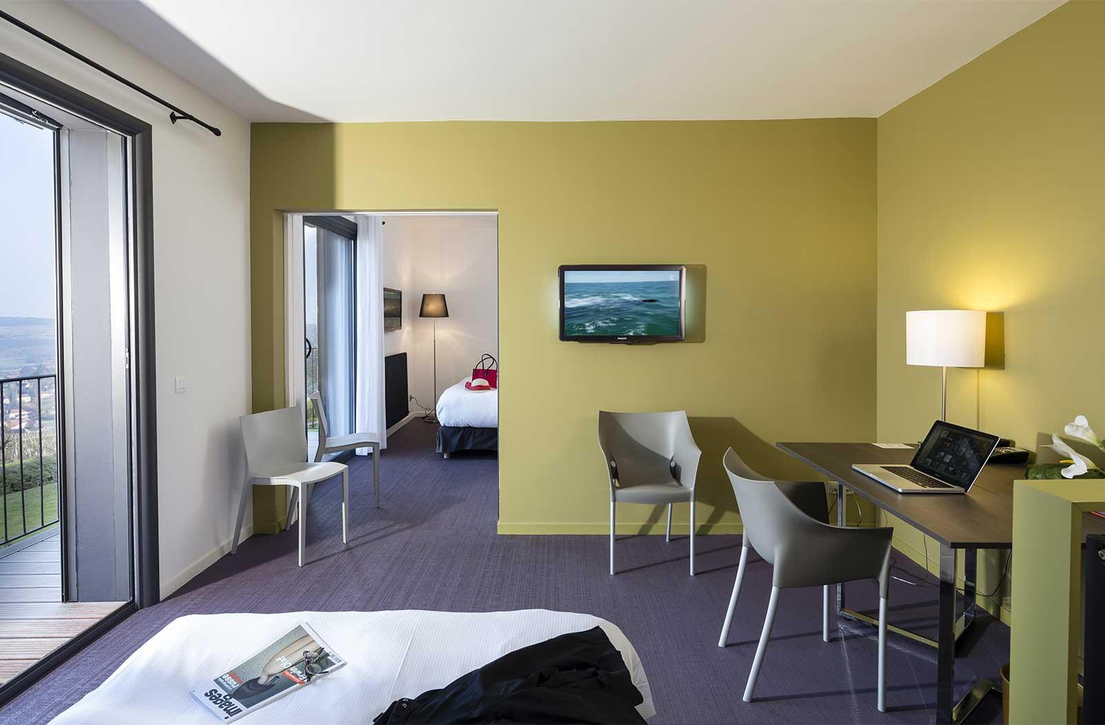 Suite - hôtel la montagne de brancion entre Tournus et Cluny