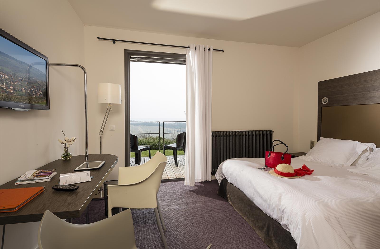 Chambre de luxe - Hôtel La Montagne de Brancion entre Tournus et Cluny