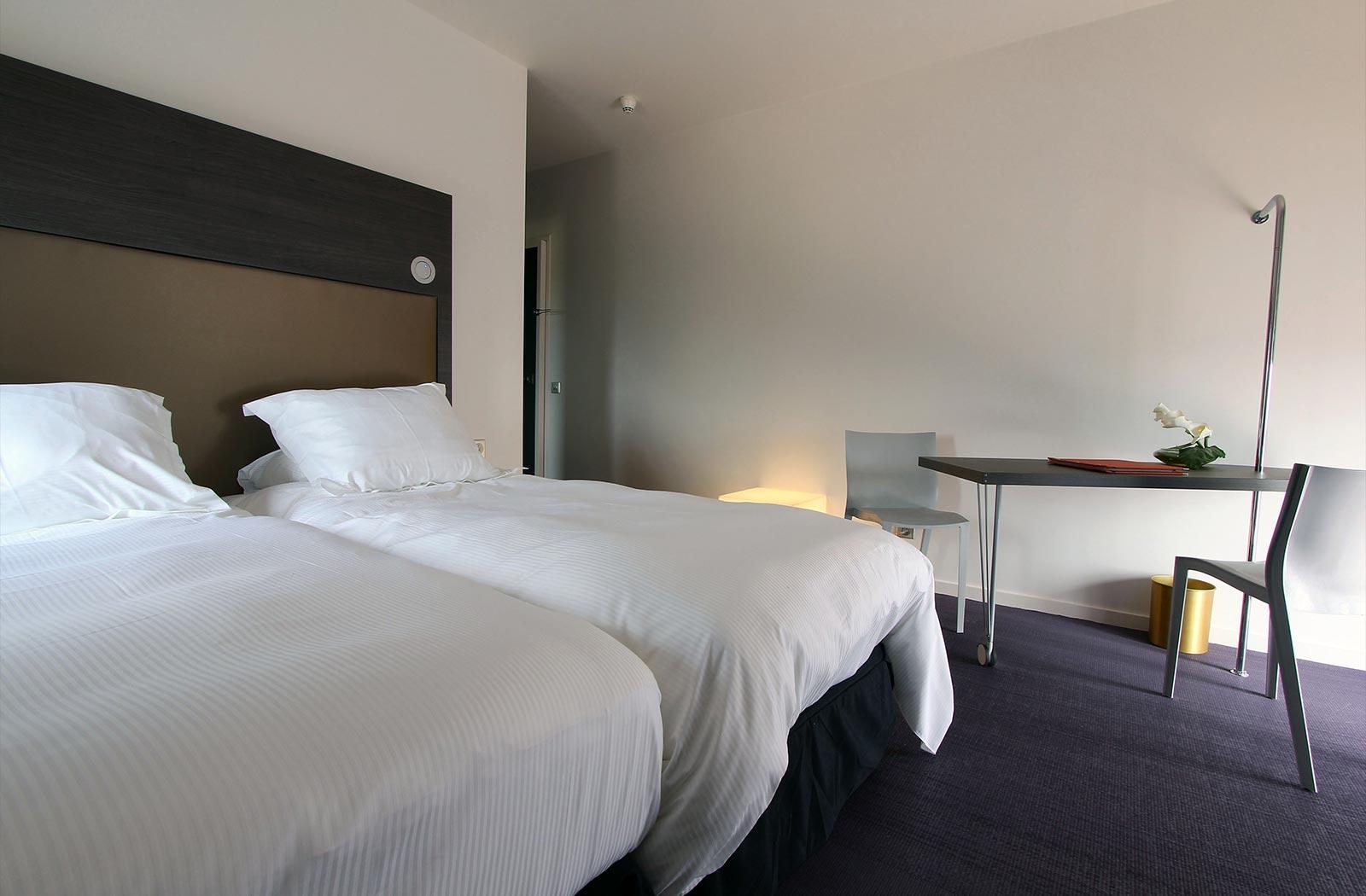 Chambre twin de luxe - Hôtel La Montagne de Brancion entre Tournus et Cluny